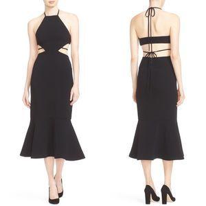 Cinq a Sept Cyra Midi Dress Black 6 NWOT